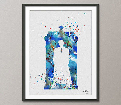 400x346 Tardis Quotes Dr Who Watercolor Painting Print Archival Fine Art