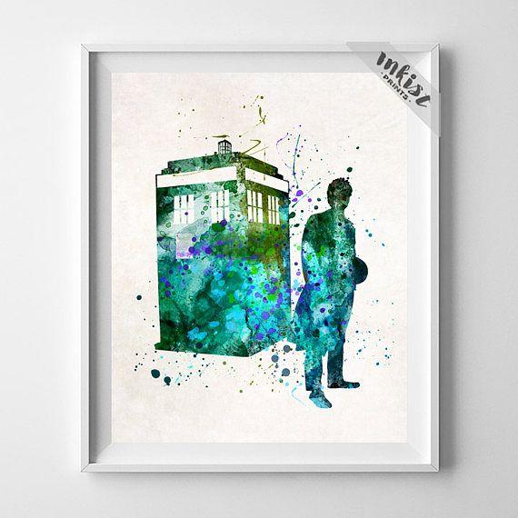 570x570 Tardis Print, Tardis Poster, Tardis Art, Dr Who Art, Doctor Who