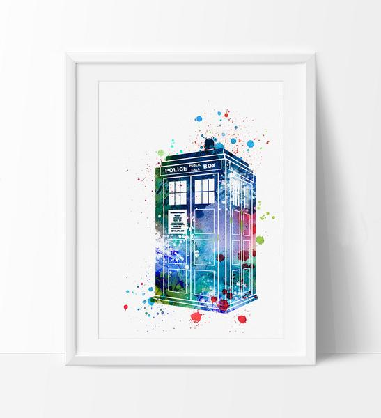 547x600 Tardis From Dr Who Art, Doctor Who Art, Wall Art Poster