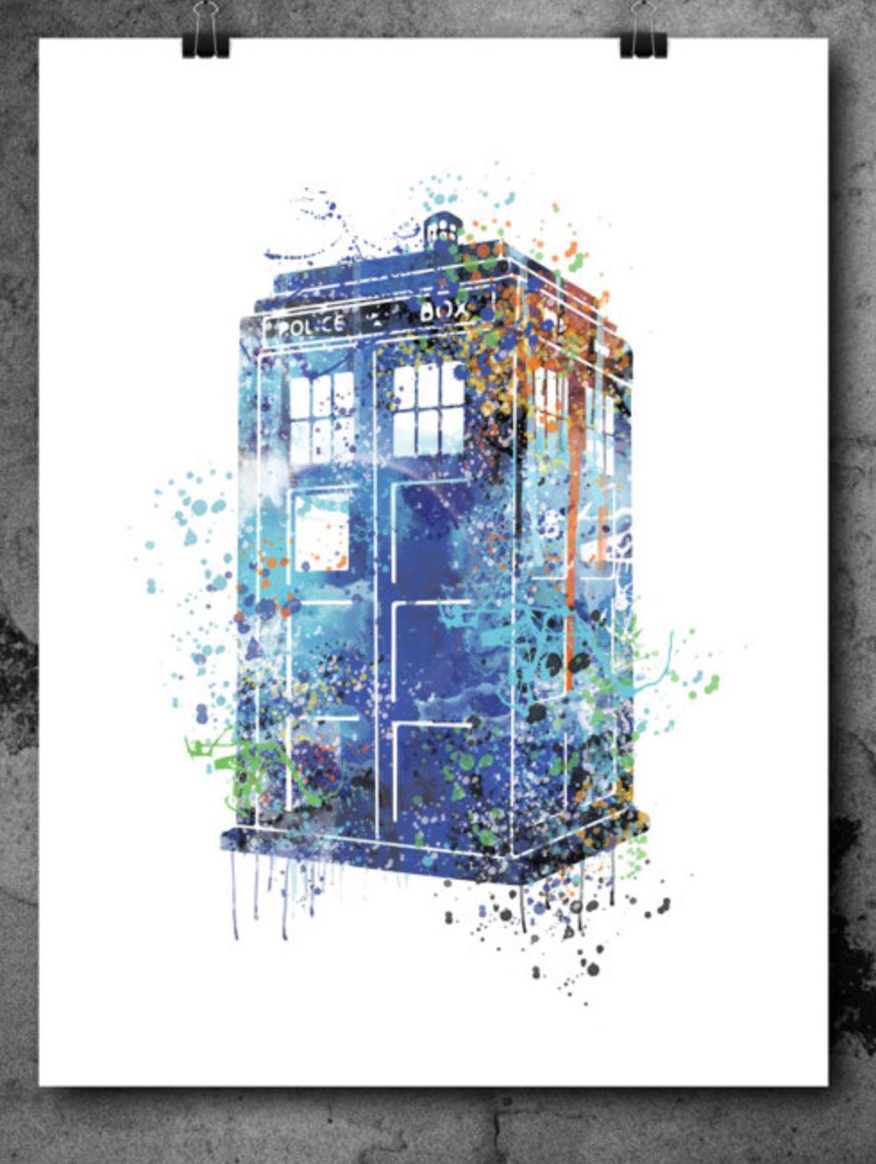 980x1302 Art R Us Best Art Print Posters Toronto Tardis From Dr Who Print