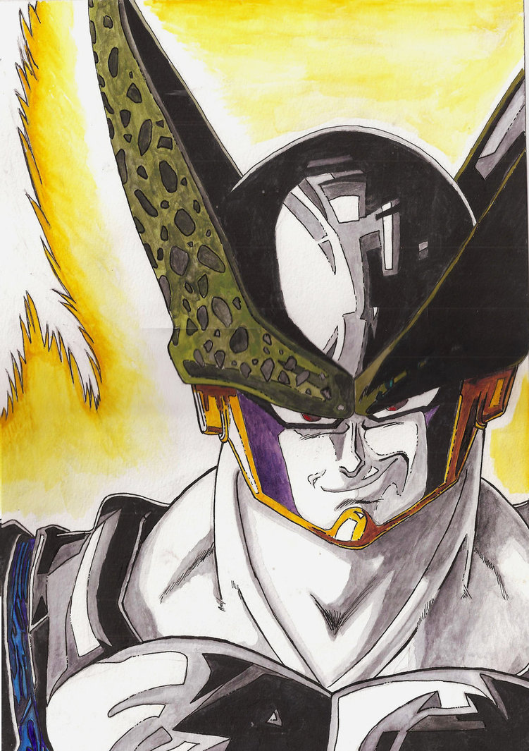 751x1065 Dragon Ball Z Cell Watercolor By Jared393