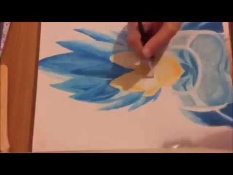 480x360 Vegeta Ssg Dragon Ball Z Painting