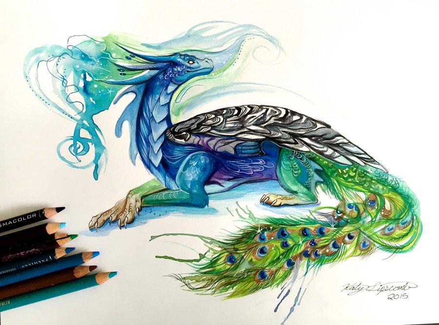 Dragon Watercolor Paintings