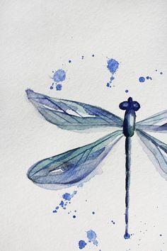 236x354 Original Watercolor Dragonfly, Painting Watercolor, Original Art