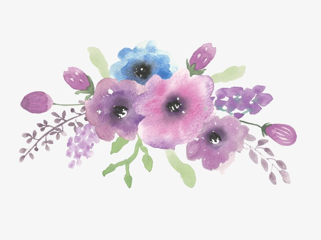 650x487 Drawing Ink Purple Flowers, Watercolor Flowers, Ink Flower, Flower