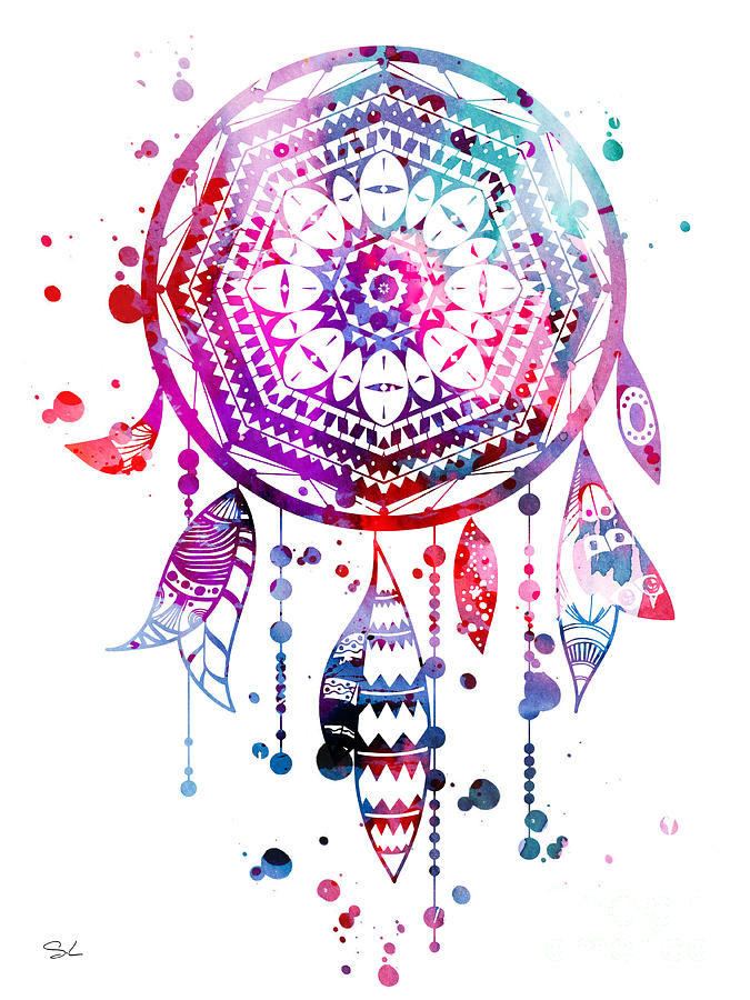 675x900 Dream Catcher Painting By Watercolor Girl
