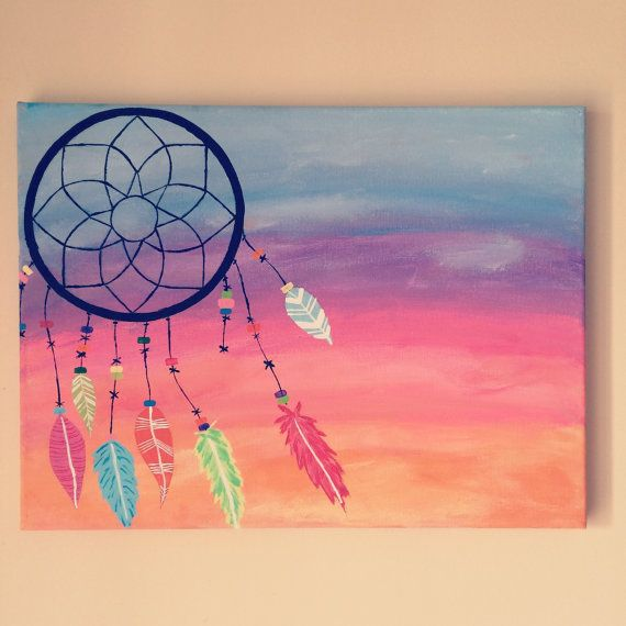 570x570 Gradient Dreamcatcher Canvas Art Home Decor By Accioartdesigns