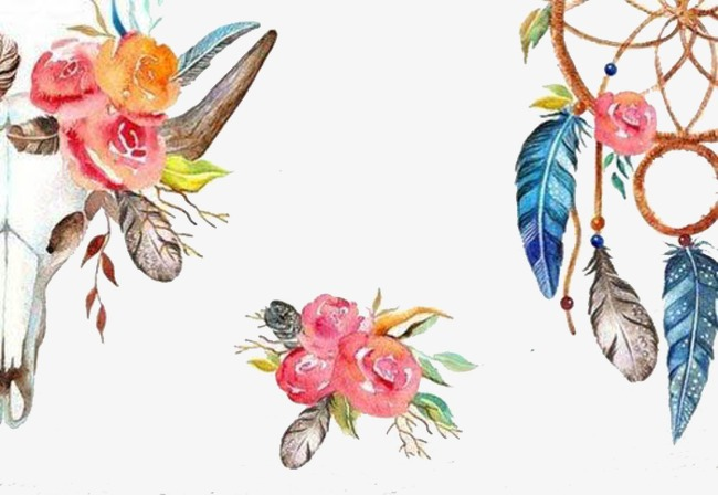 650x448 Hand Painted Dream Catcher, Flowers, Feather, Dreamcatcher Png
