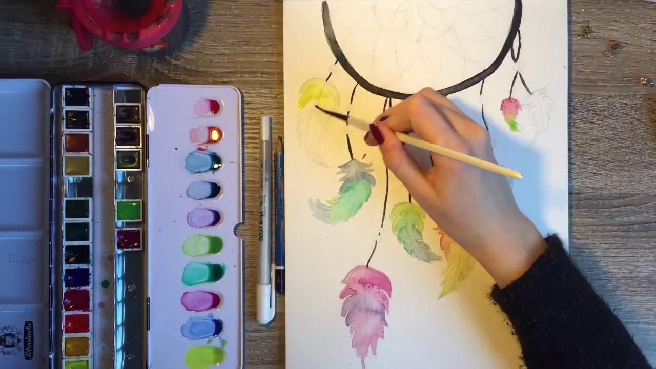 1280x720 How To Draw A Dreamcatcher