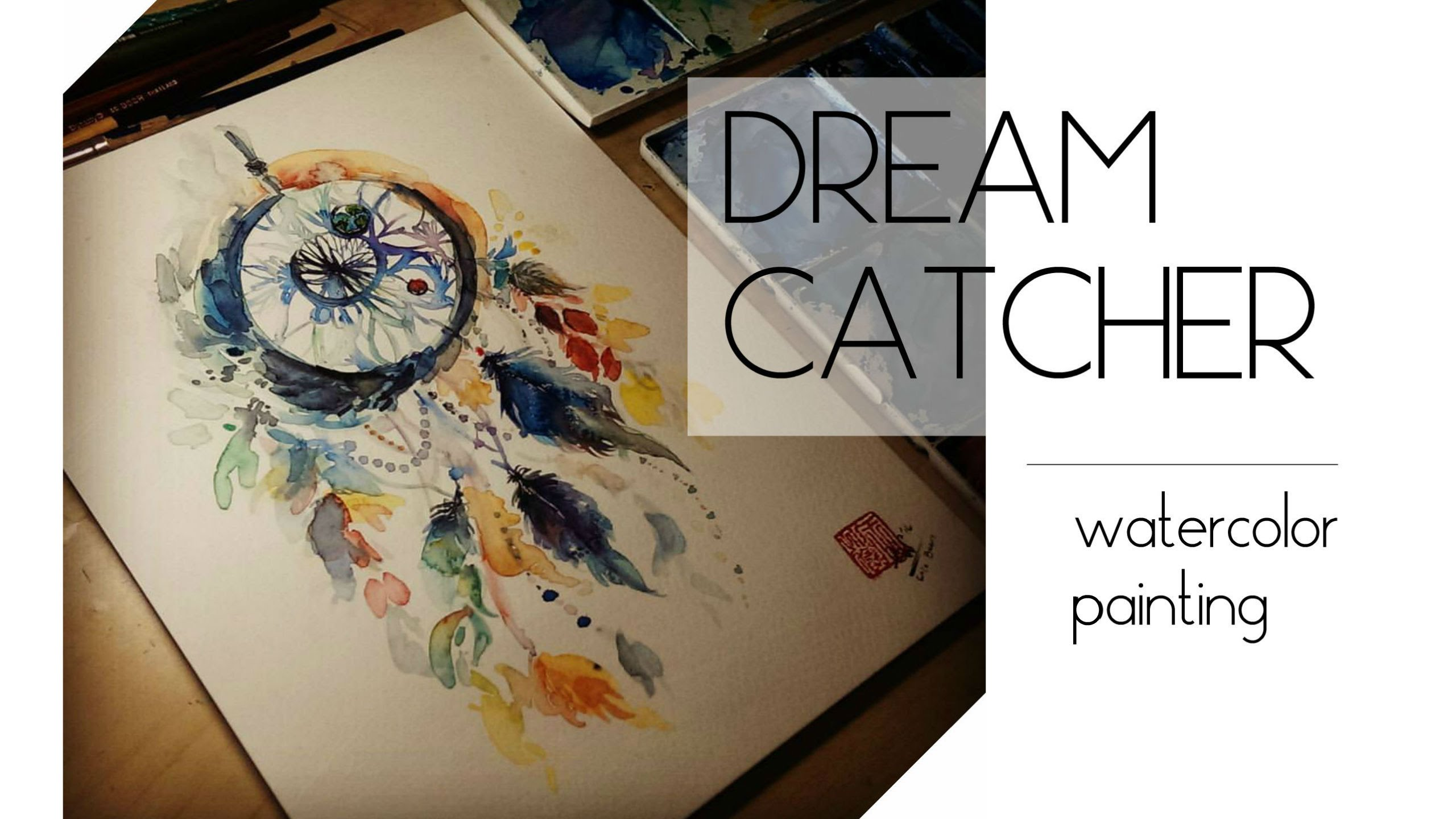 2560x1440 Painting A Dreamcatcher With Watercolor
