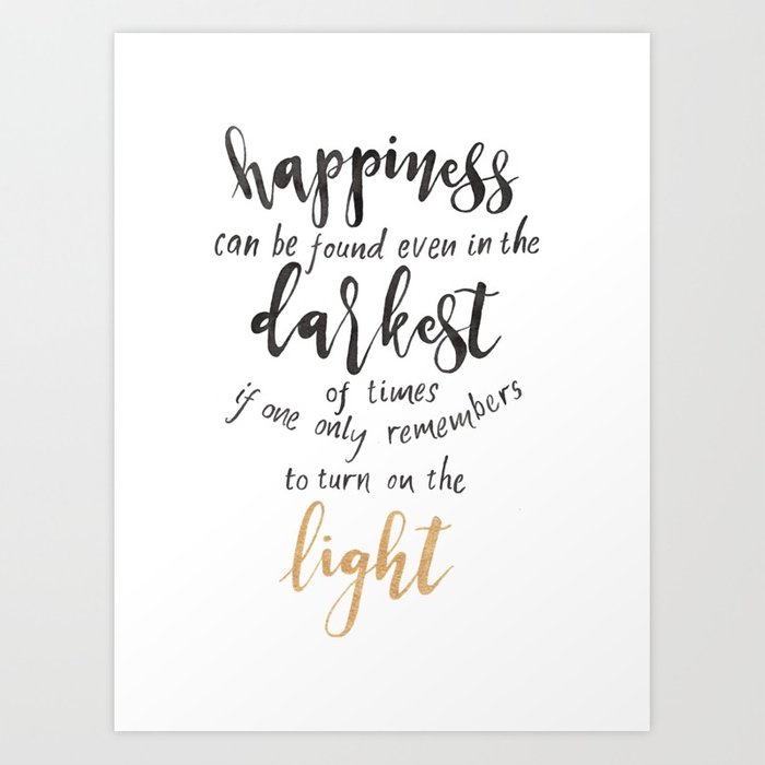 700x700 Dumbledore Quote Happiness Can Be Found... Watercolor Art
