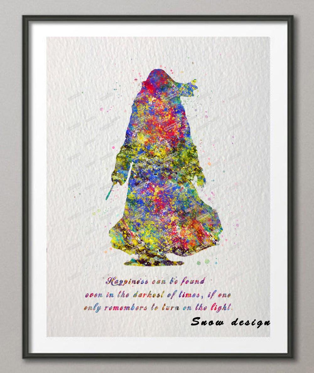 1000x1188 Buy Dumbledore Quote Original Watercolor Canvas