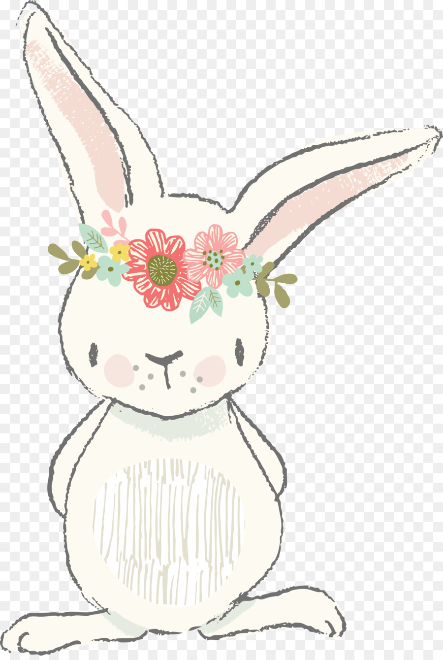 900x1340 Easter Bunny Rabbit Watercolor Painting Clip Art