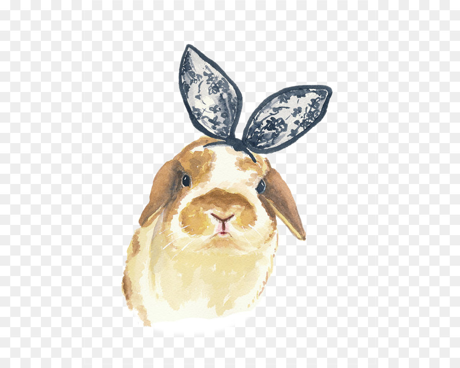 900x720 Easter Bunny Rabbit Watercolor Painting Illustration