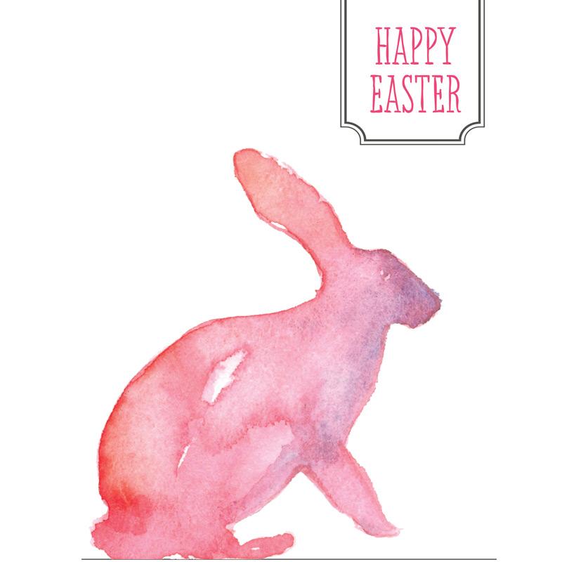 800x800 Easter Printable Bunny Card With Balloon