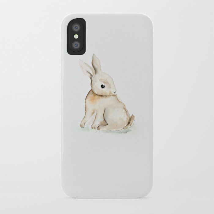 700x700 Easter Bunny Watercolor Iphone Case By Craftberrybush Society6