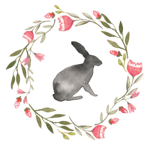 500x500 Easter Bunny Watercolor Archives Design Corral