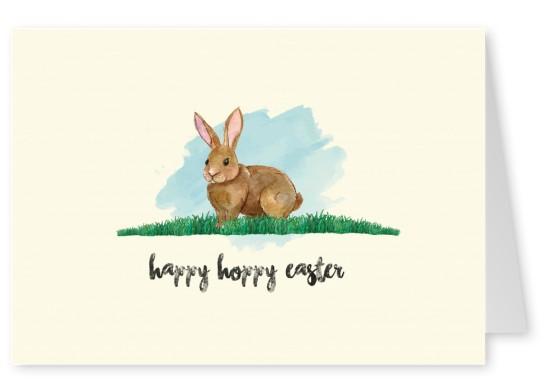 551x391 Happy Hoppy Watercolor Easter Bunny Happy Easter Send Real
