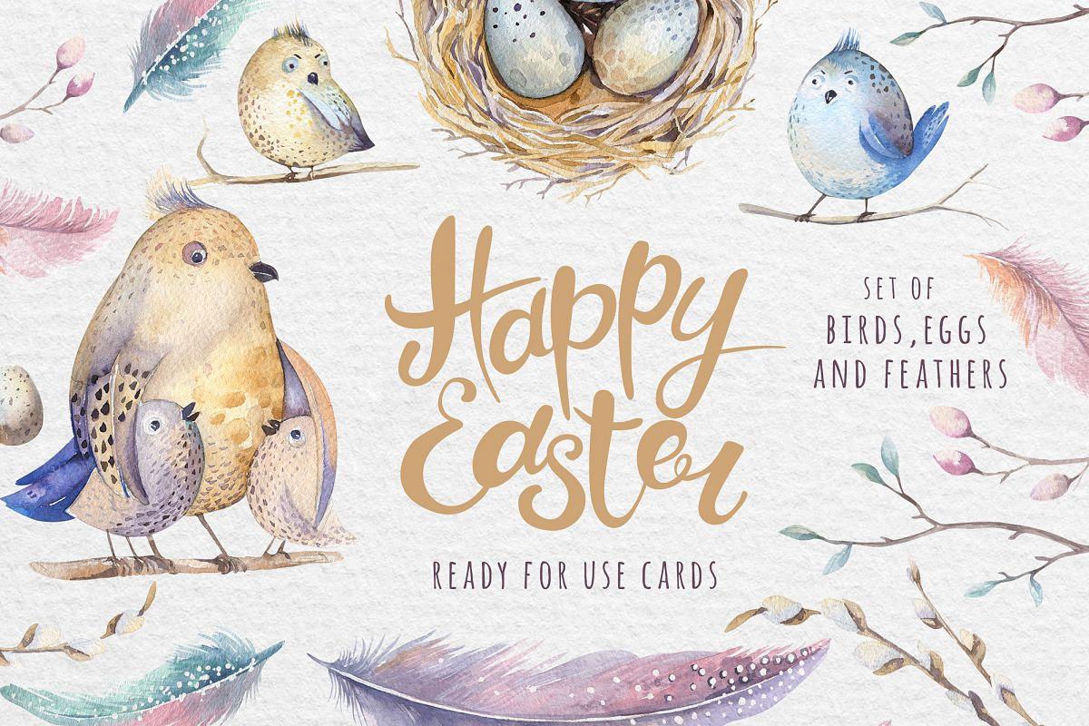 1200x800 Watercolor Happy Easter Card Amp Diy