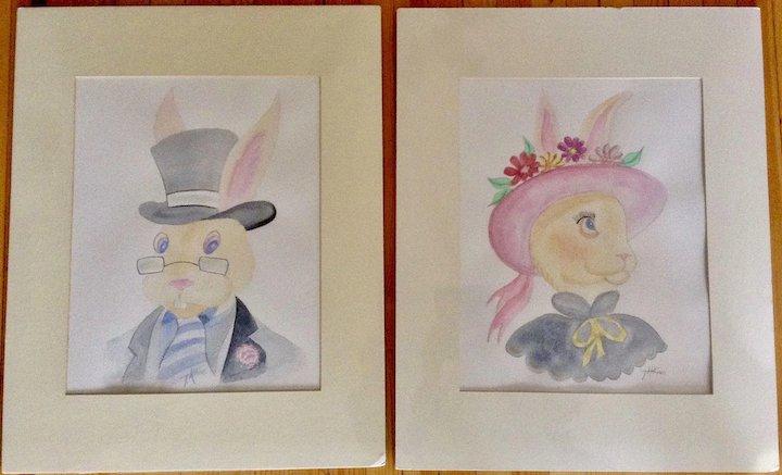 720x437 Teri Atkins Brown, Easter Bonnet Ii Watercolor Paintings Works On