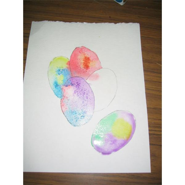 600x600 Watercolor Painting Techniques For An Easter Egg Art Project