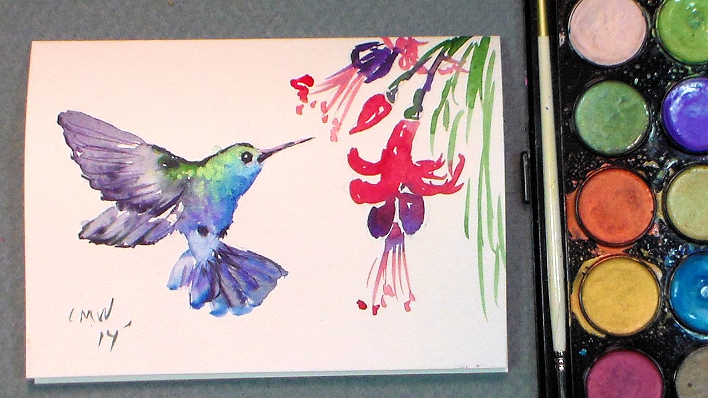 1446x814 Paint A Quick Hummingbird In Watercolors {Quick Amp Easy!}