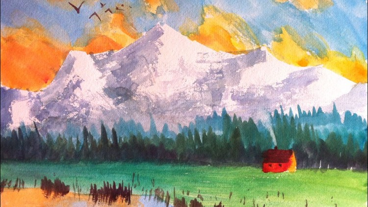 750x422 Paint This Mountain Watercolor Painting In 3 Easy Steps Udemy