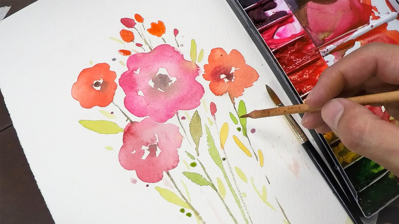 1280x720 Watercolor Painting For Beginners (Simple And Easy)