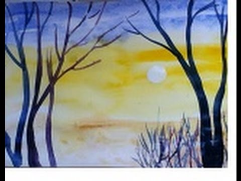 480x360 Beautiful Scenery Painting In Simple Steps