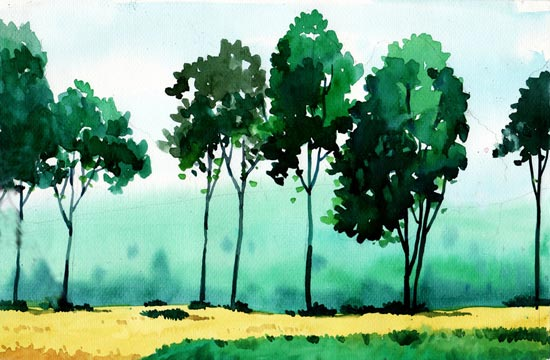 550x360 40 Artistic And Beautiful Watercolor Paintings
