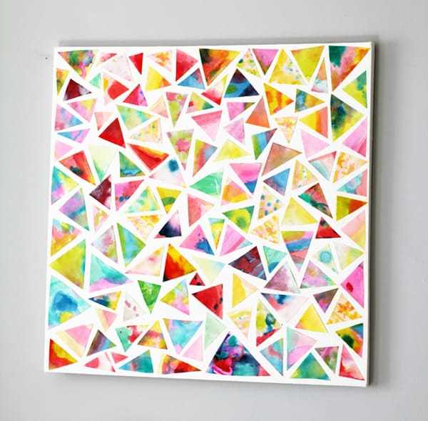 600x589 Beautiful (And Easy) Watercolor Collage