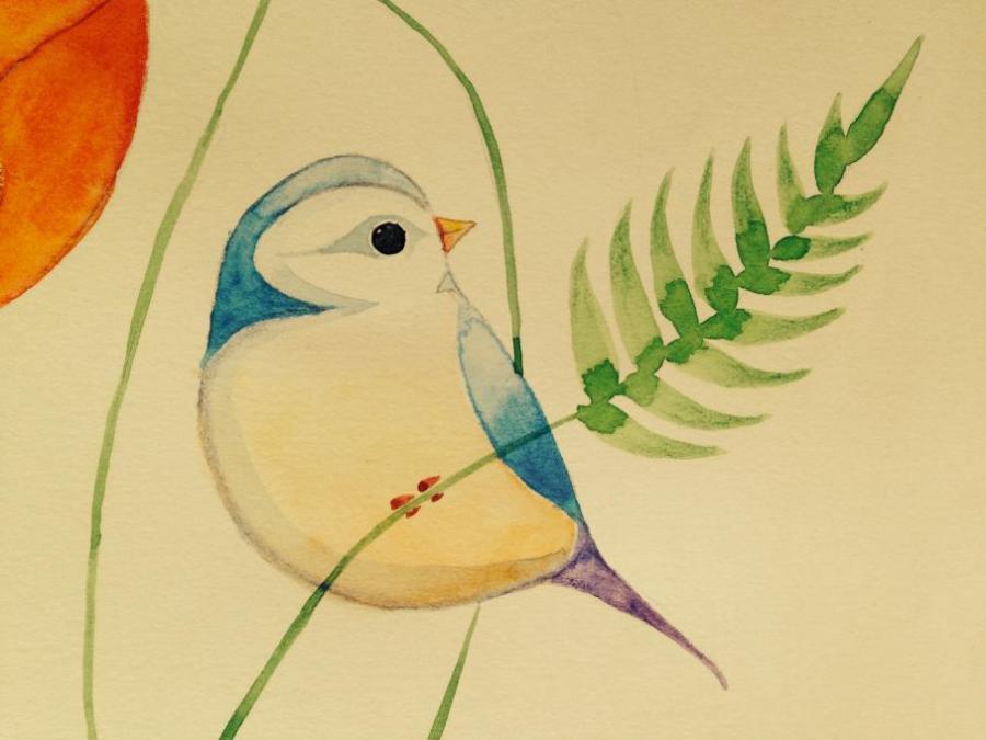 Easy Watercolor Birds