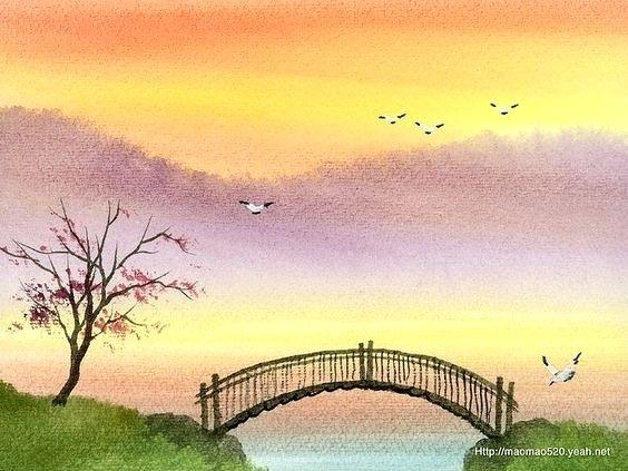 564x423 Easy Landscape Drawing Easy Watercolor Paintings Beauteous Easy