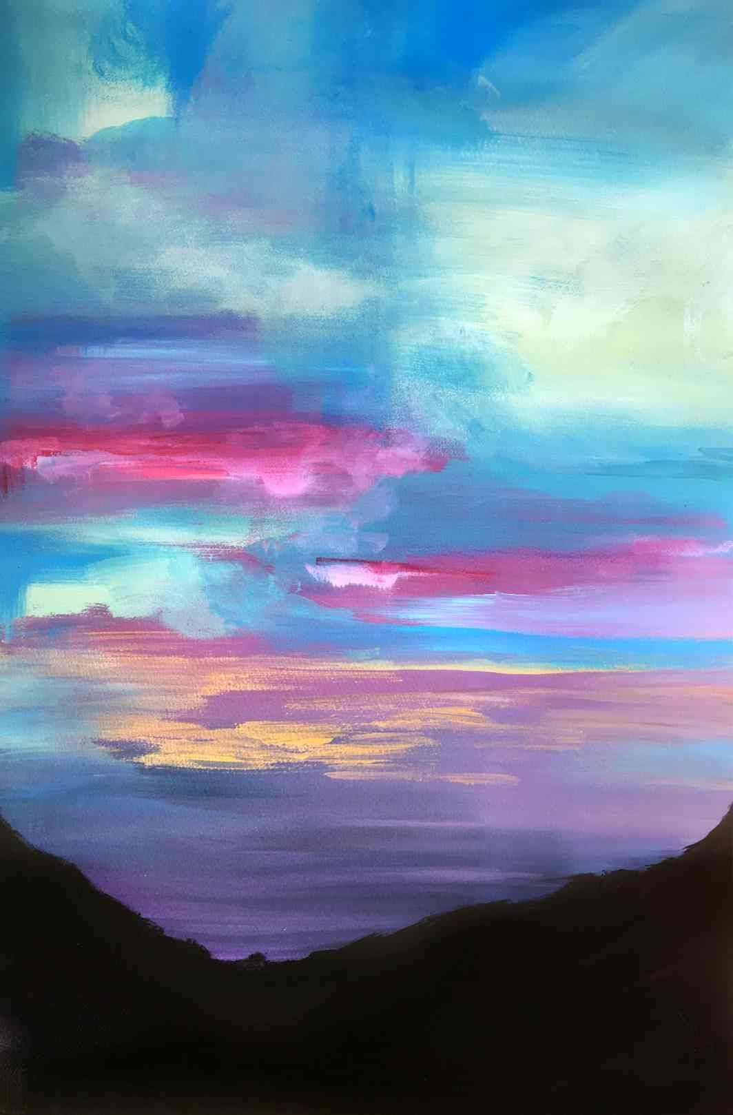 1064x1618 Easy Watercolor Paintings Landscape Hd Wallpaper Ideas Easy