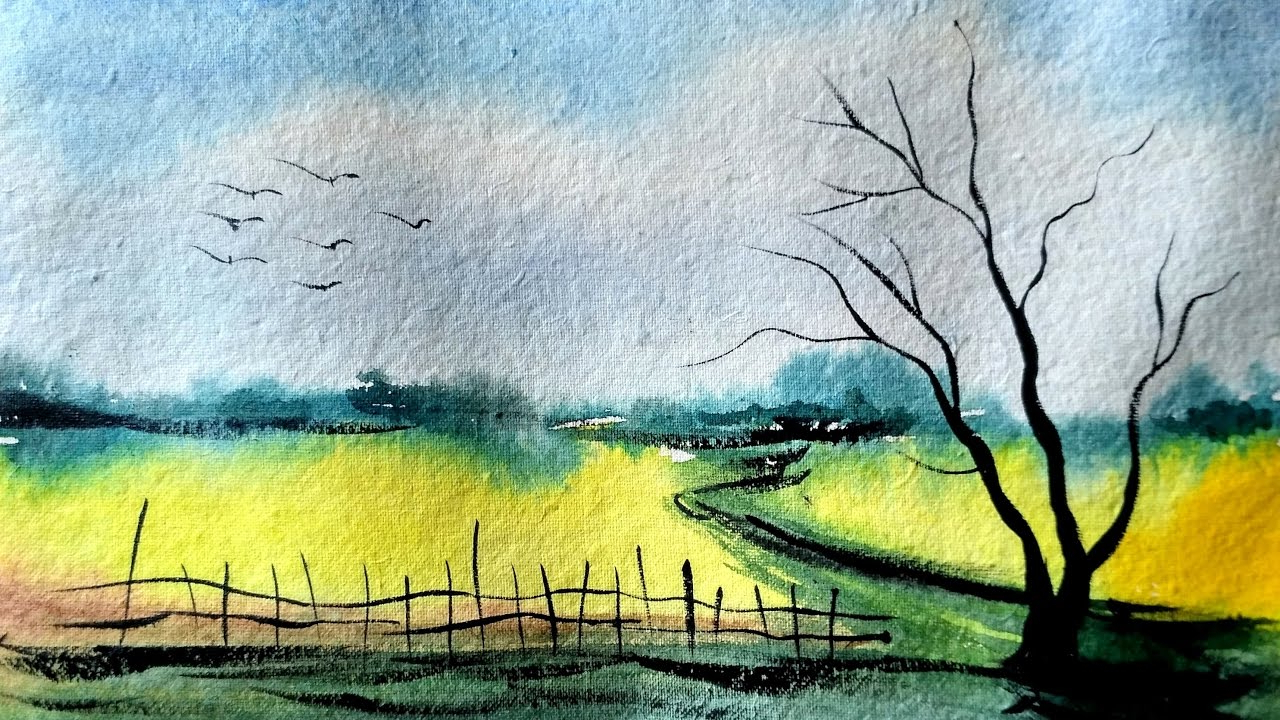 1280x720 Easy Watercolor Paintings Of Landscapes Simple And Easy Landscape