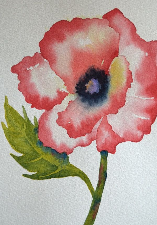 600x861 Simple Flower Paintings Ideas Lovely Easy Watercolor Paintings For