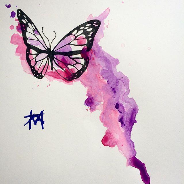 Easy Watercolor Paintings Of Butterflies
