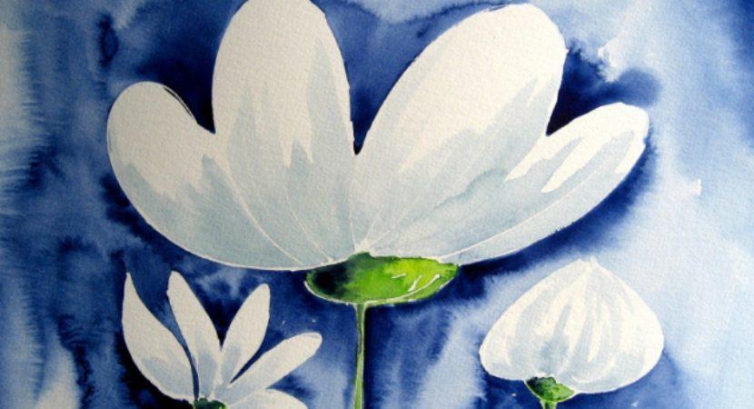 Easy Watercolor Paintings Of Flowers