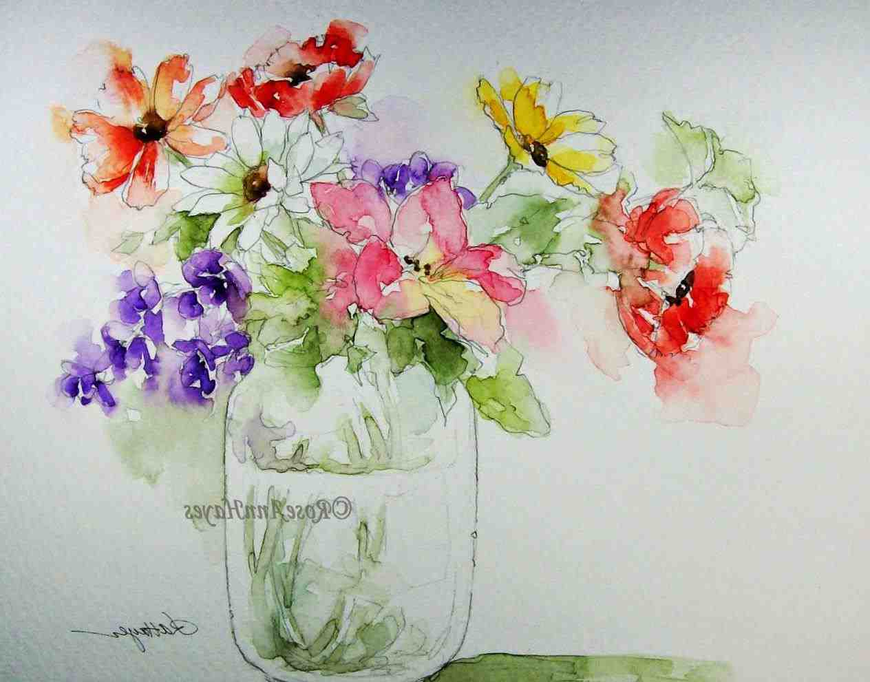 1264x991 Famous Watercolor Paintings Of Flowers Famous Watercolor Paintings