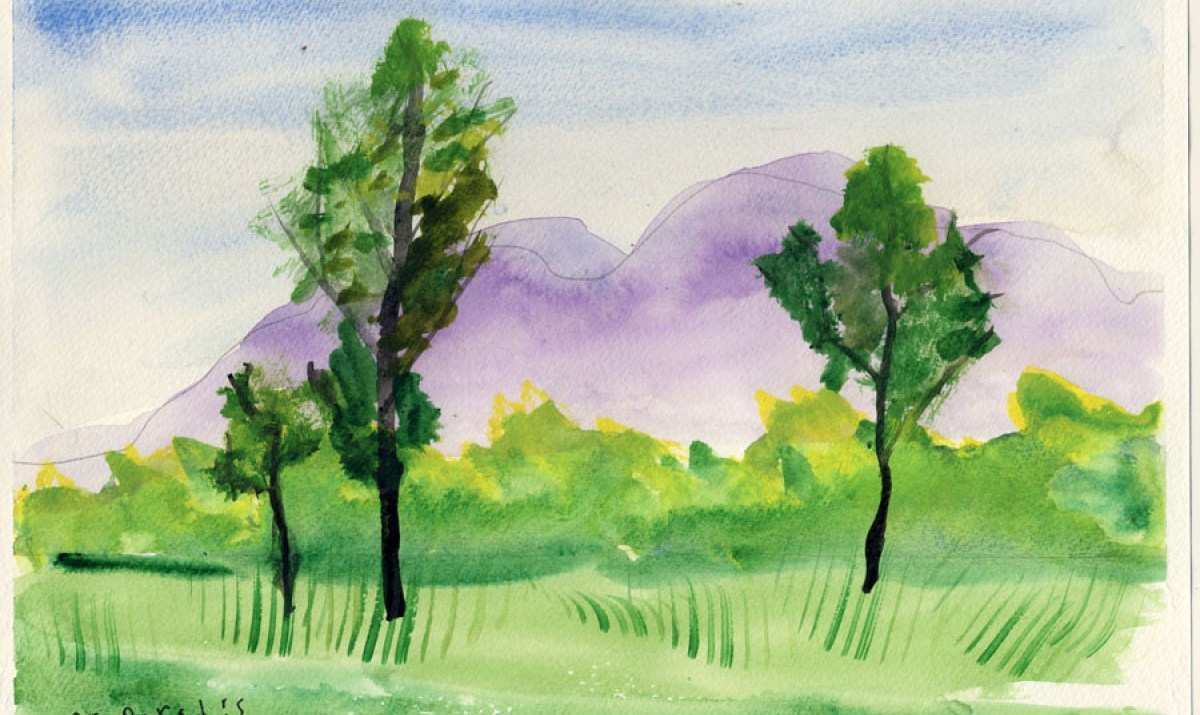Easy Watercolor Paintings Of Spring Landscapes At Getdrawings Com
