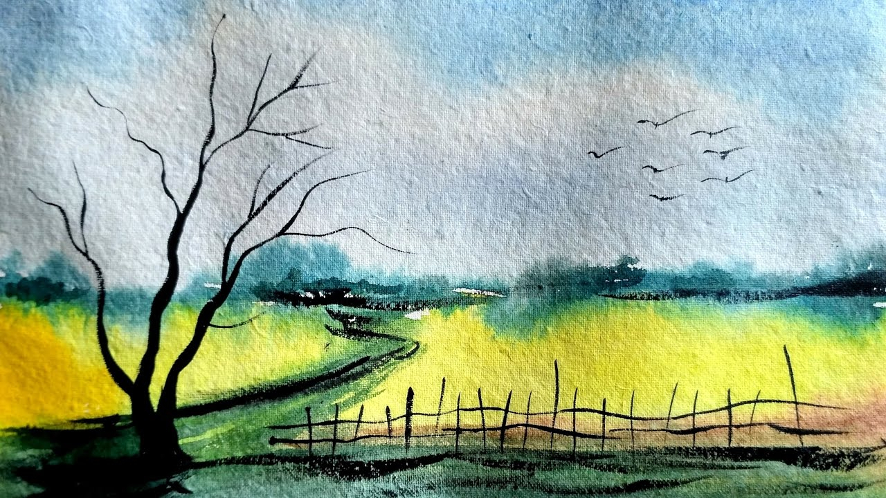 1280x720 Easy Watercolor Landscape Simple And Easy Landscape In Watercolor
