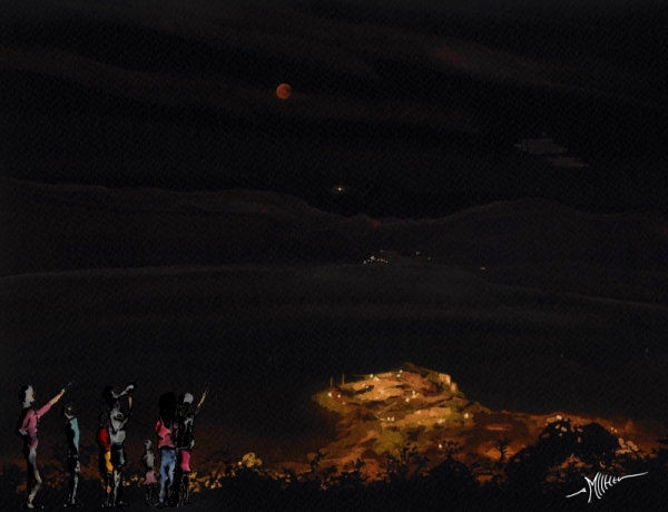 600x460 20180727 Watercolor Of The Vista Of The Moon Total Eclipse Made