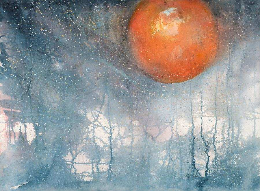 900x660 Eclipse Painting Beautiful The Blood Moon Tetrad Painting Ideas