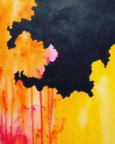 375x469 Saatchi Art Sun Eclipse Painting By Anita Kutsarova
