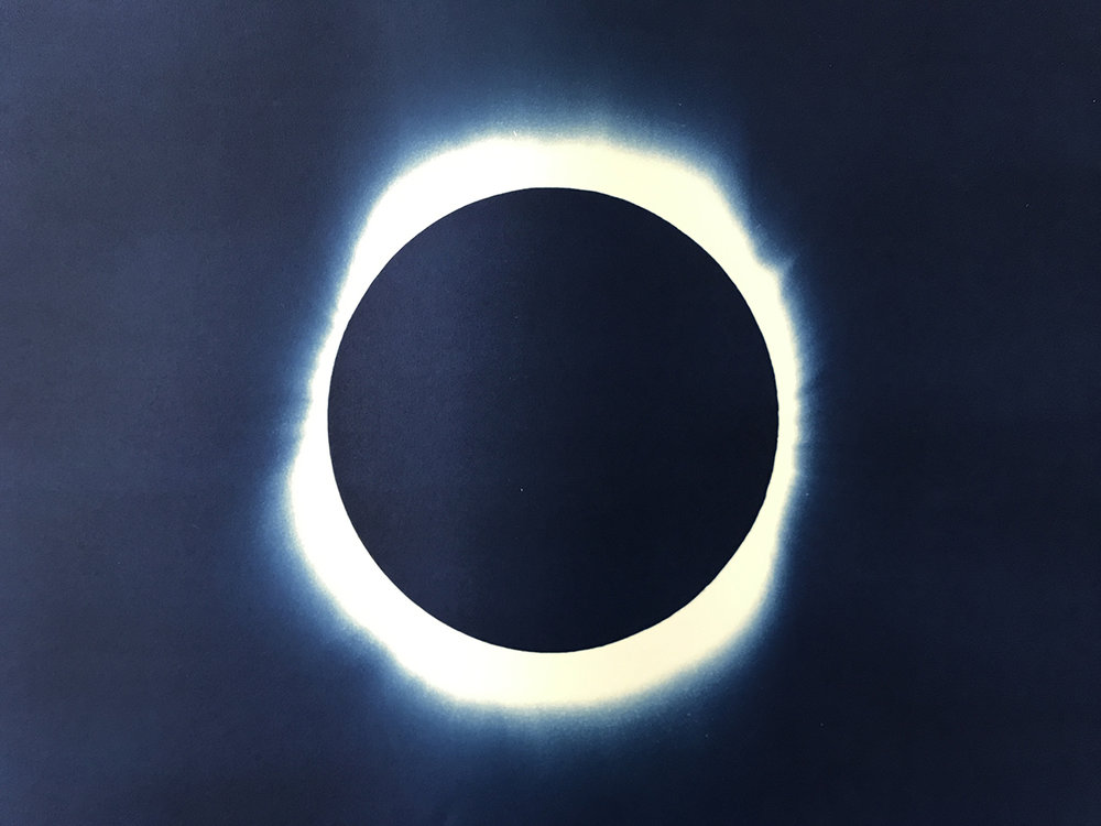 1000x750 Solar Eclipse Cyanotype On Watercolor Paper Agent Gallery Chicago