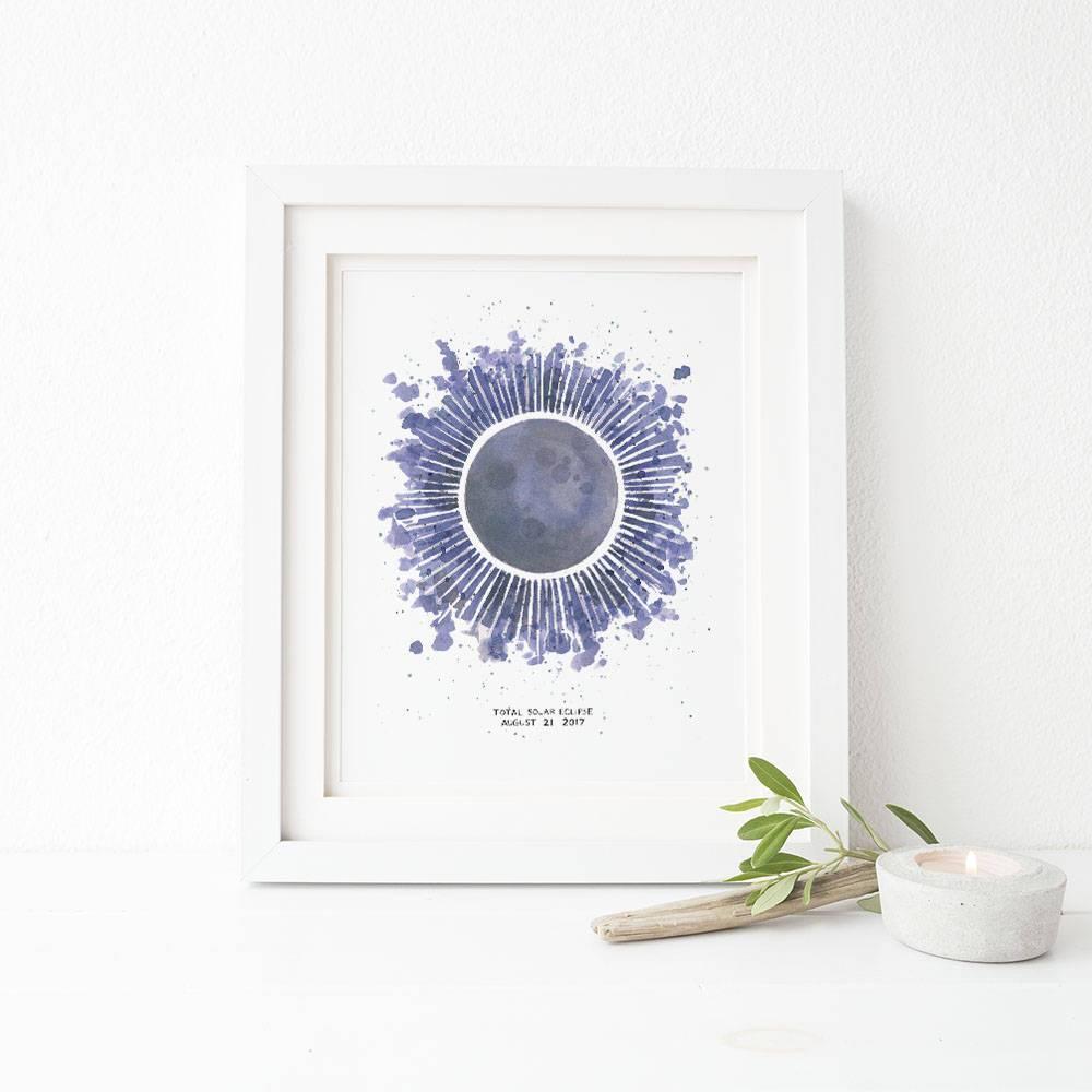 1000x1000 Solar Eclipse Watercolor Art Print Yardia