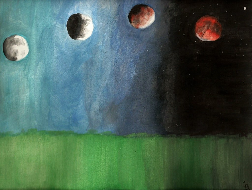 1024x773 Blood Moon Eclipse Watercolor Prints Haus Of Hope Online Store