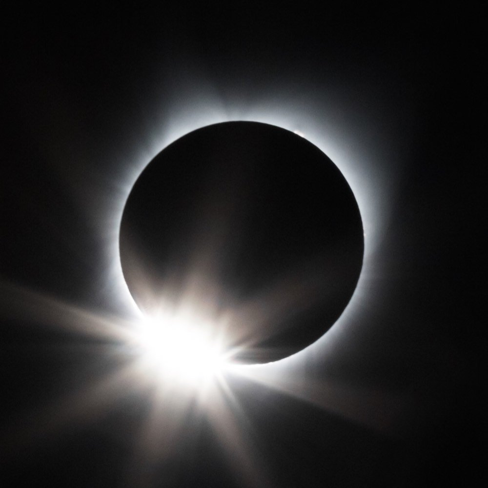 1000x1000 Total Solar Eclipse Original Painting Watercolor Black White Etsy
