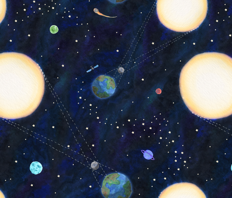 470x402 Total Solar Eclipse Watercolor Wallpaper