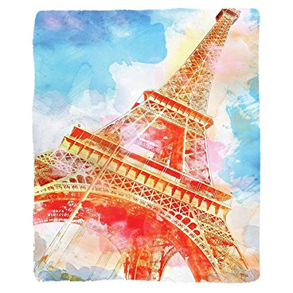 Eiffel Tower Watercolor Painting